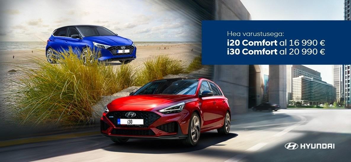 Püüa suve! Hyundai i20 ja i30 laoautod kiirelt kätte.