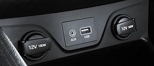 AUX- ja USB-ühenduspesad