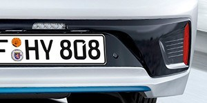 Дизайн бампера и элементы отделки фирменного синего цвета